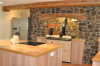 The farmhouse kitchen at Honeymead Farmhouse large country house available to hire on Exmoor